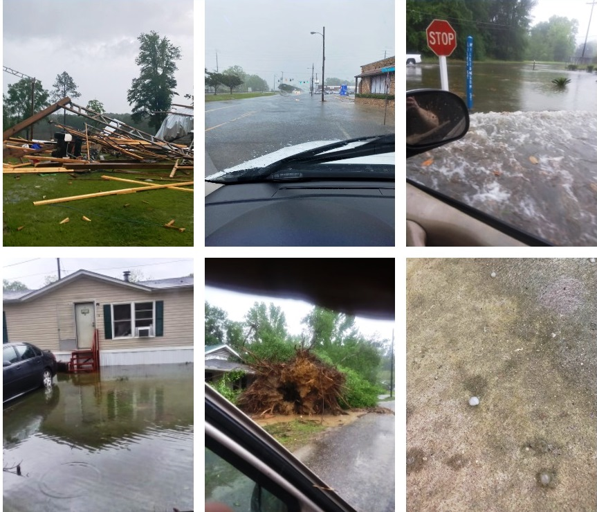 Photos of storm damage here