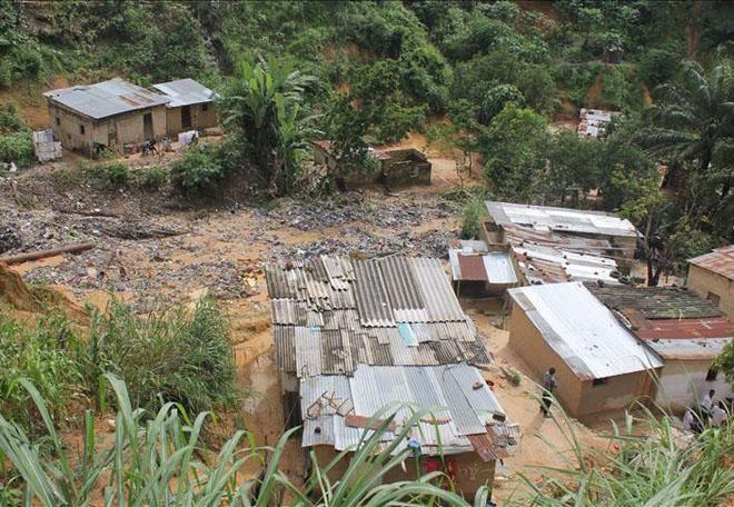 Floods in Kenya. Disaster video.
