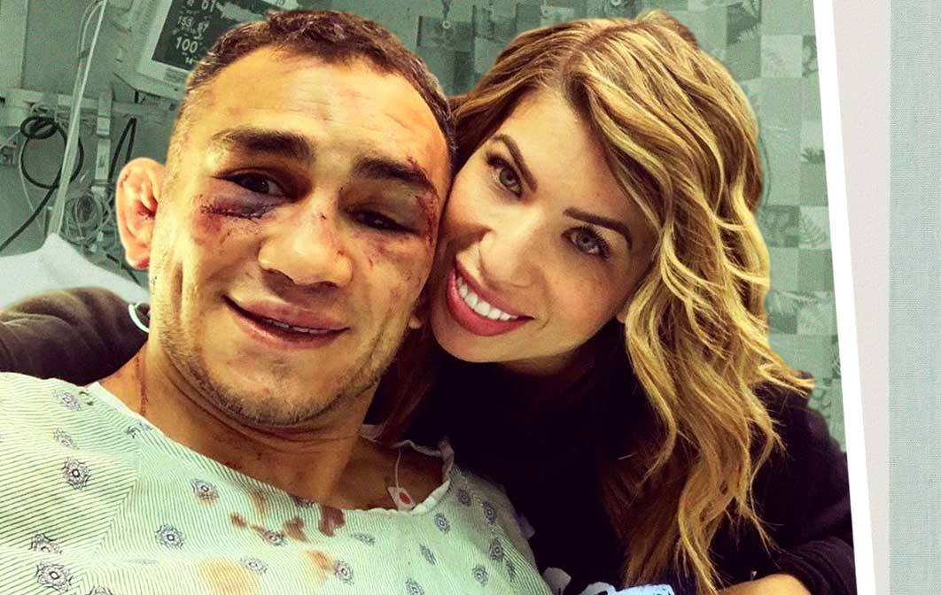 UFC fighter Tony Ferguson danced with a dropper in a video.