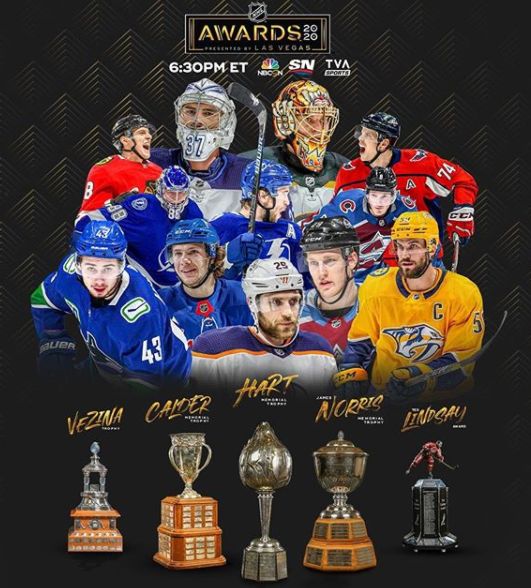 NHL handed out personal awards