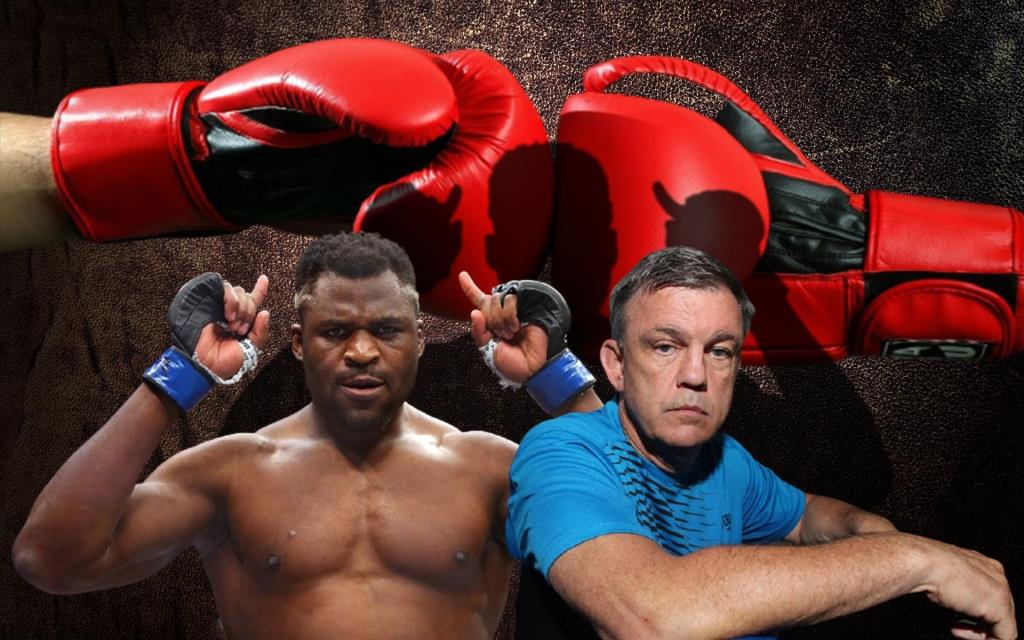 Teddy Atlas trains Francis Ngannou before the fight for the UFC champion belt