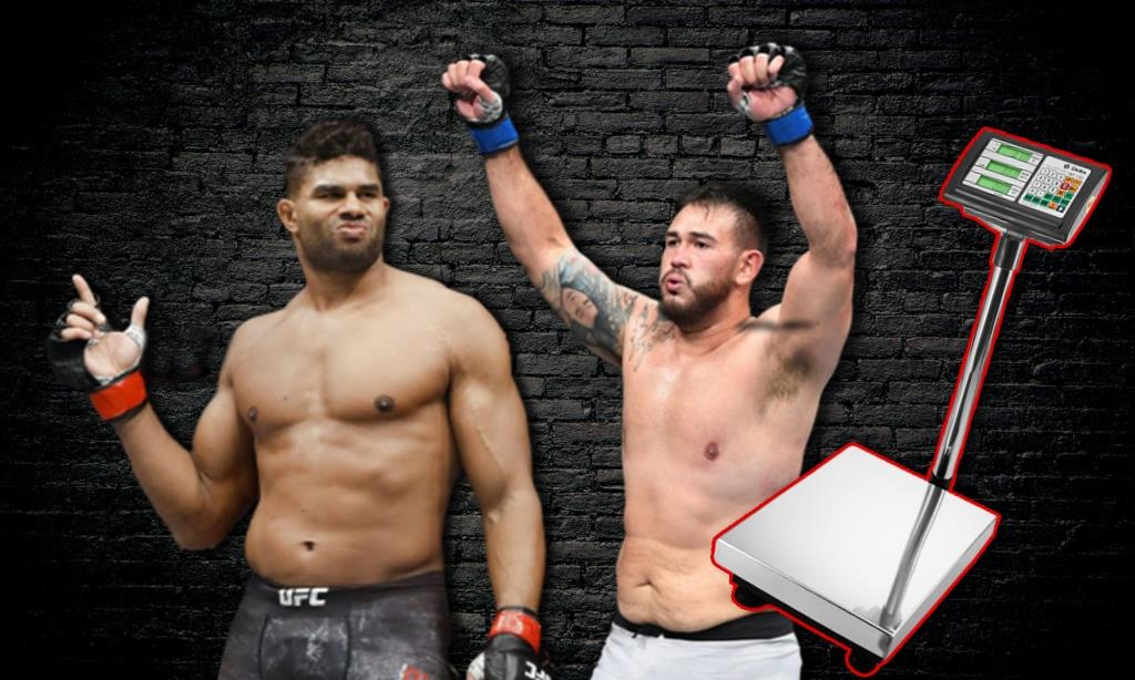 UFC on ESPN + 34 weigh-in results Alistair Overeem - Augusto Sakai