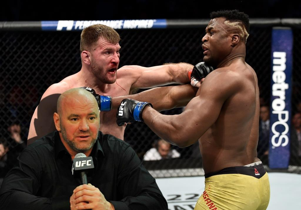 Dana White spoke about the fight between Stipe Miocic and Francis Ngannou