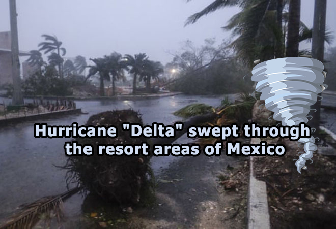 Hurricane Delta swept through the resort areas of Mexico