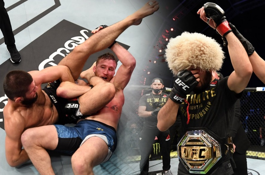 Khabib Nurmagomedov explained why he finished Gaethje with a triangle, but not with an elbow lever