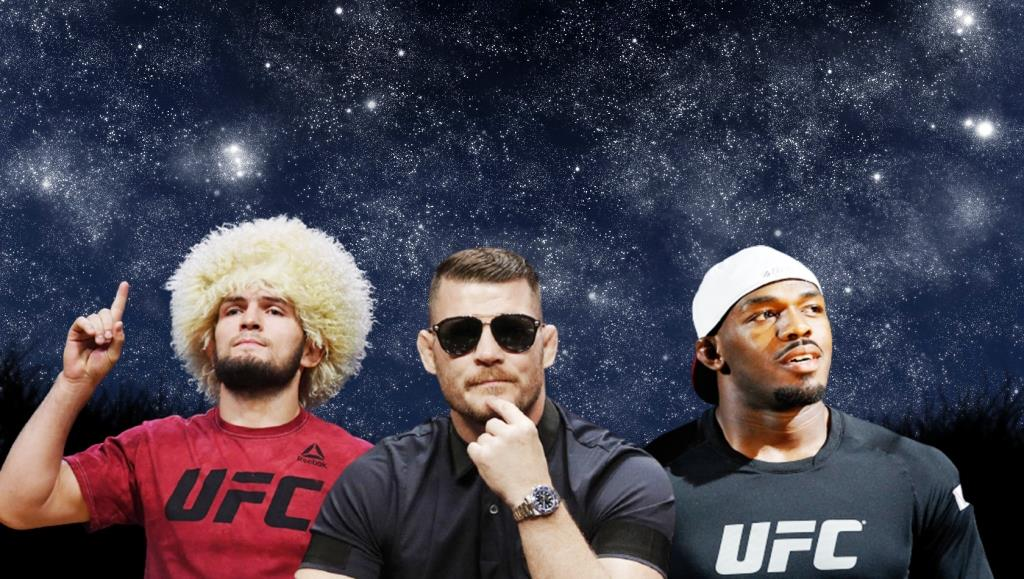 Michael Bisping When Khabib looks up to the sky, he sees the stars, and Jones sees a huge spot on his career.