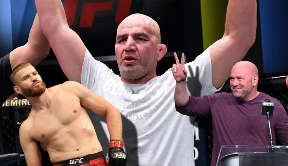 Dan White and Jan Blachowicz's reaction to Glover Teixeira's victory.