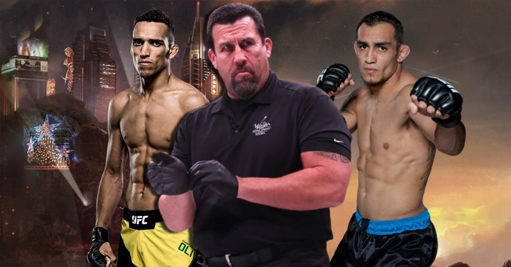John McCarthy gave predictions for the fight between Tony Ferguson and Charles Oliveira