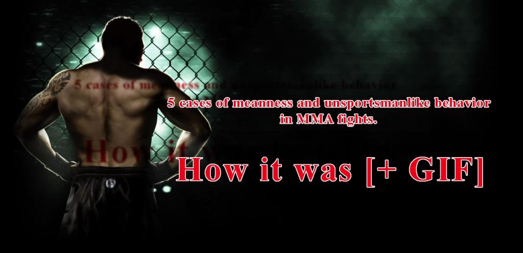 5 cases of meanness and unsportsmanlike behavior in MMA fights