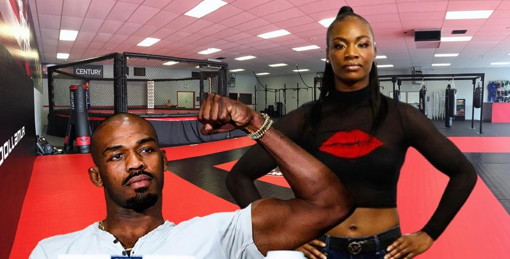 Jon Jones coaches Claressa Shields ahead of his MMA debut