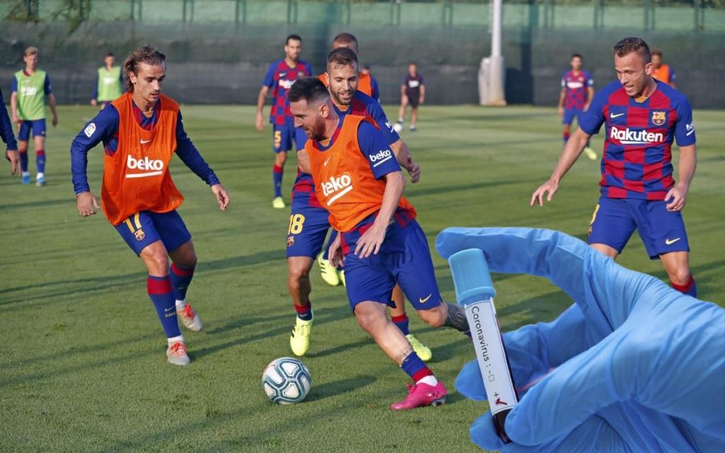 Barcelona canceled training due to two cases of coronavirus at the club.