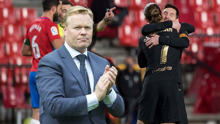 Barcelona head coach Ronald Koeman commented on his team's victory against Granada.