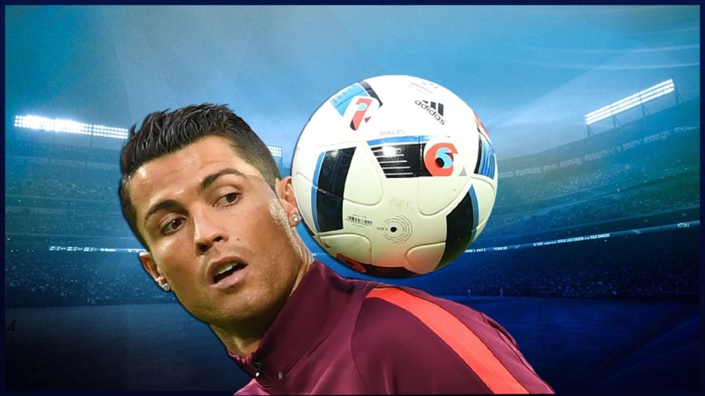 Cristiano Ronaldo in the form of a superhero advertised a mobile game