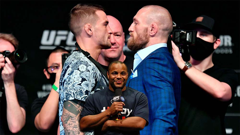 Daniel Cormier advises Dustin Poirier to be especially careful at the beginning of the fight with Conor McGregor