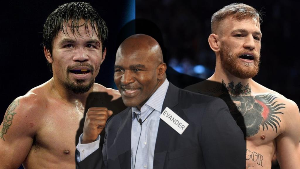 Evander Holyfield is ready to help Conor McGregor prepare for his fight with Manny Pacquiao