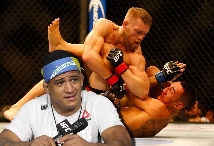 Gilbert Burns commented on Conor McGregor's grappling.