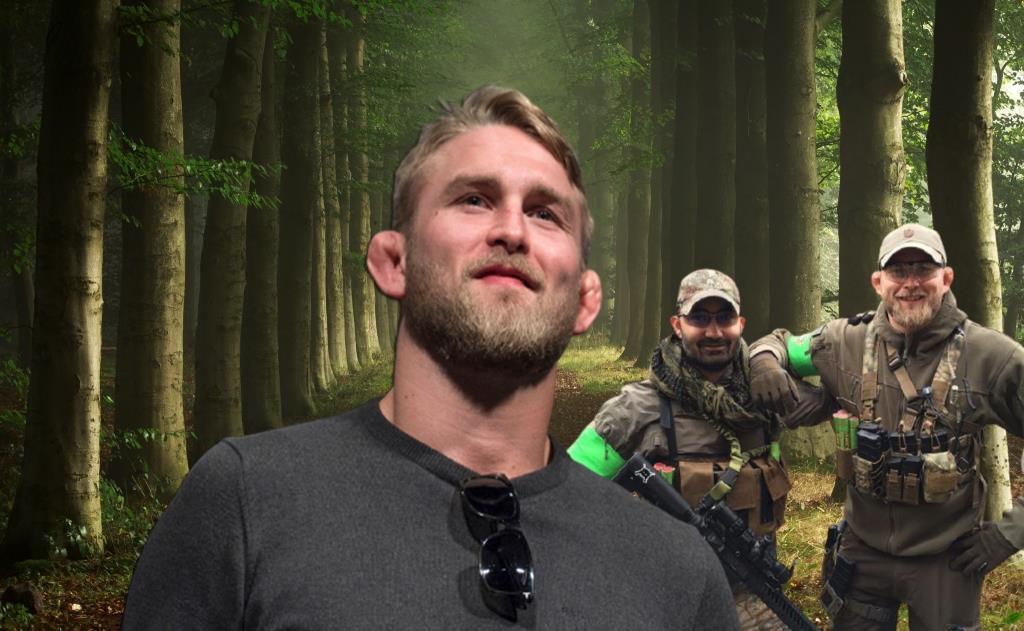Alexander Gustafsson wanders through Swedish forests at night