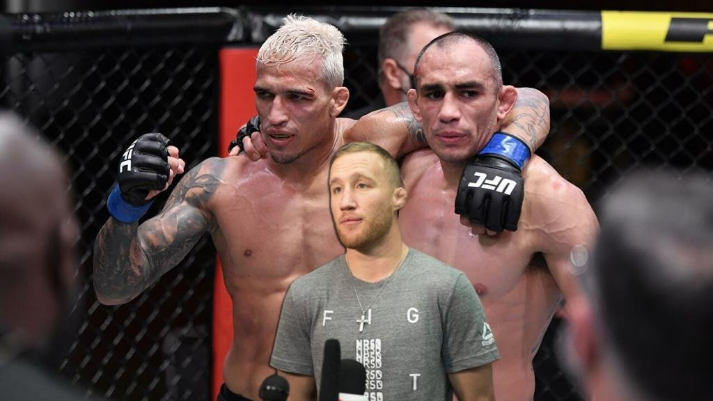 Justin Gaethje thinks Charles Oliveira doesn't deserve to get a title shot