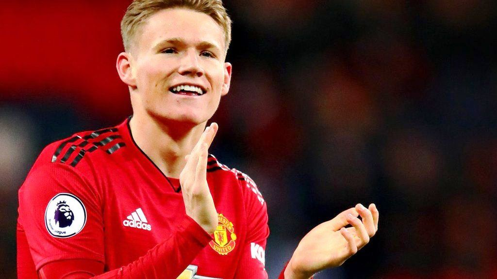 Scott McTominay showed a grisly abrasion on his thigh from a Premier League game.