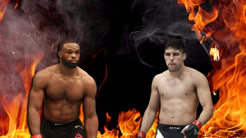 Tyron Woodley and Vicente Luque fight at UFC 260