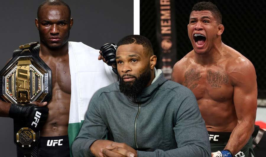 Tyron Woodley gave a prediction for the Usman - Burns fight.