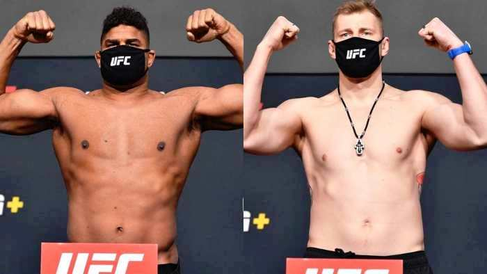 Weigh-in results for UFC Fight Night 184 Volkov outweighed Overeem