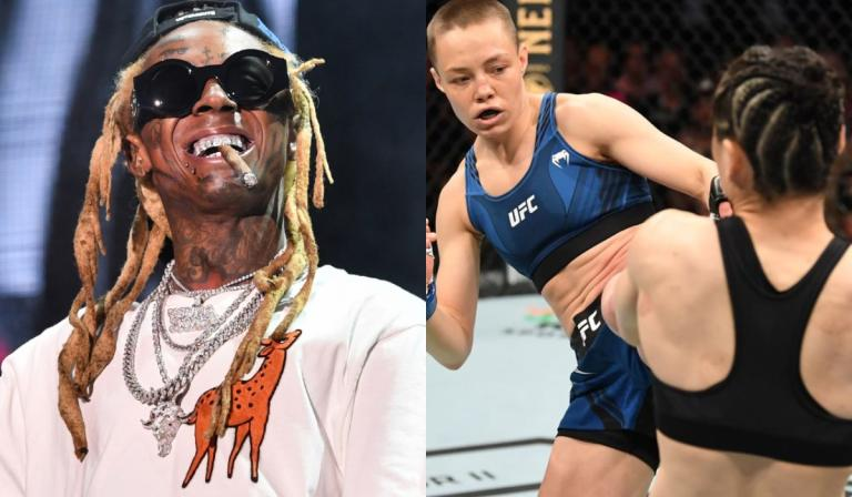 Famous rapper musician Lil Wayne has promised to write a song in honor of Rose Namajunas