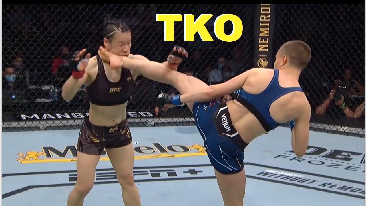 Rose Namajunas KOs Weili Zhang at UFC 261.