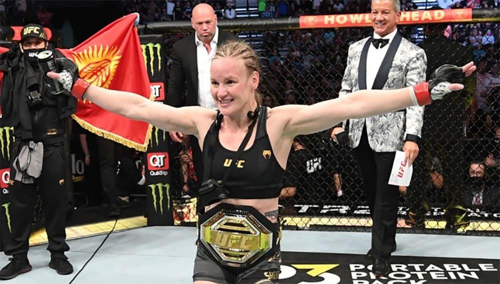 Valentina Shevchenko finished off Jessica Andrade at UFC 261.