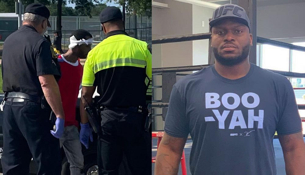 Derrick Lewis caught a robber trying to steal his car.