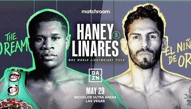 Devin Haney-Jorge Linares weigh-in results from Mandalay Bay in Las Vegas. Foto
