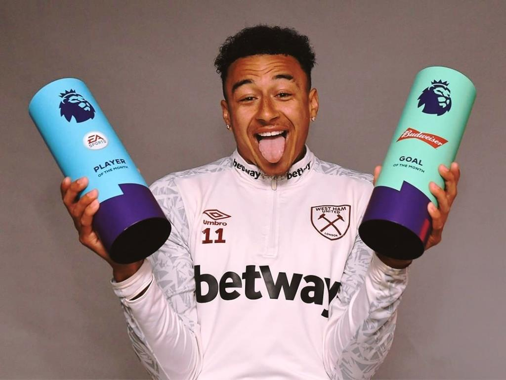 Lingard completes double with Budweiser Goal of the Month