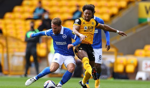 Wolverhampton snatched victory over Brighton