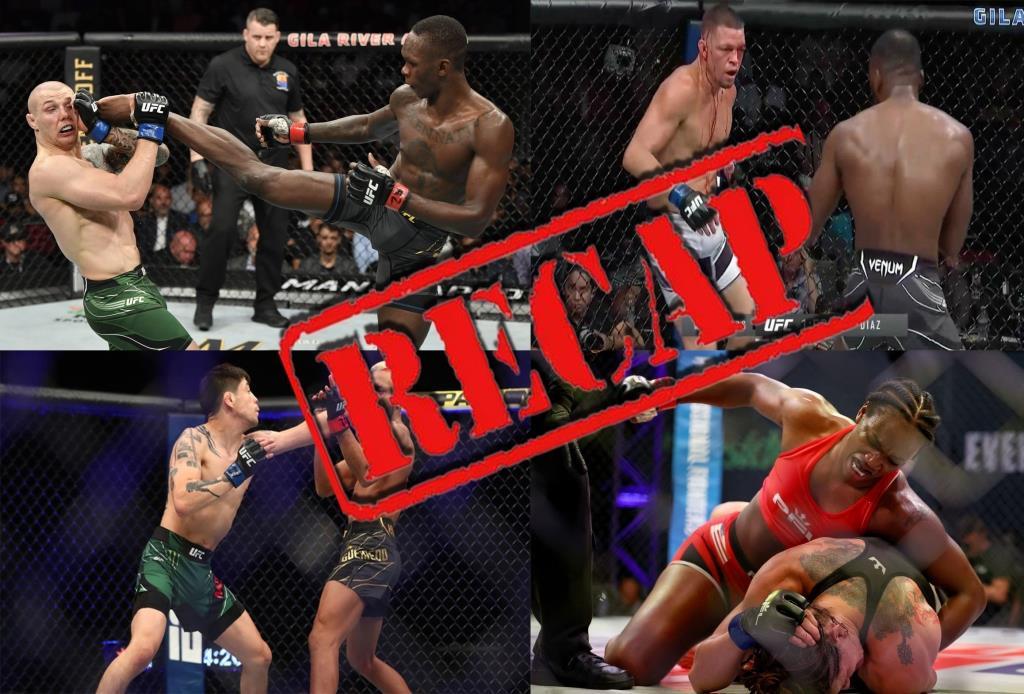 UFC 263 Recap, Israel Adesanya, Brandon Moreno, Leon Edwards, Nate Diaz, Claressa Shields, more. The A-Side Live Chat