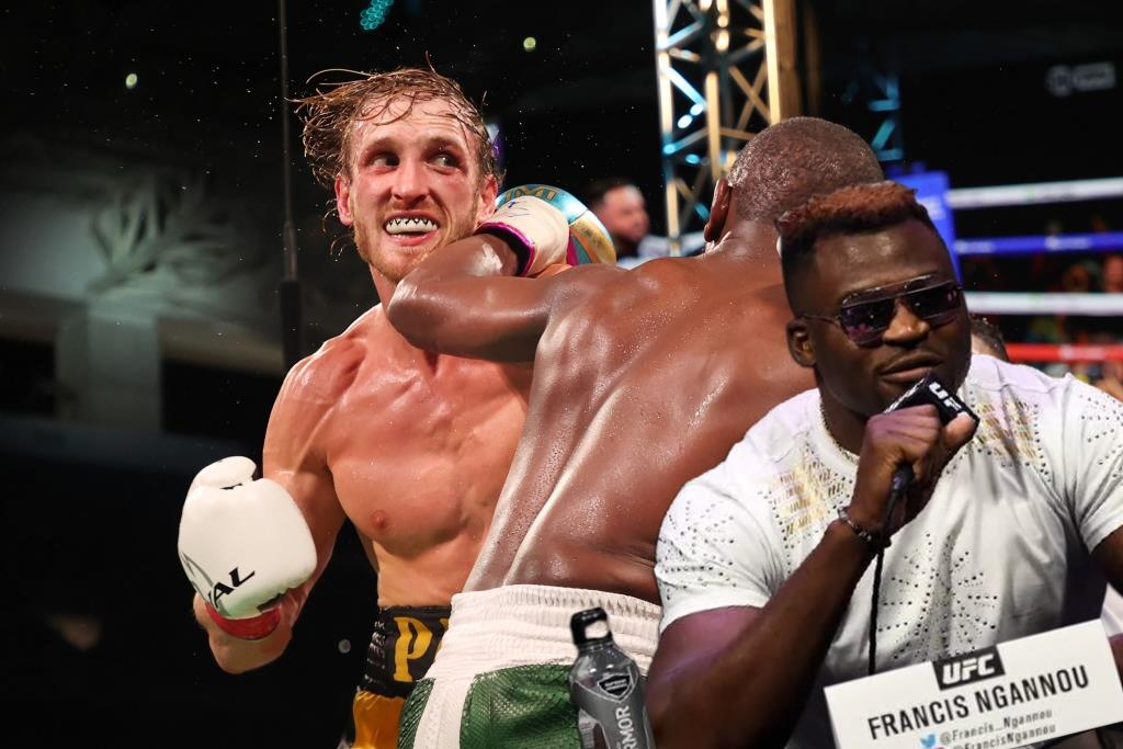 Francis Ngannou is surprised by Logan Paul's fee for the fight with Mayweather