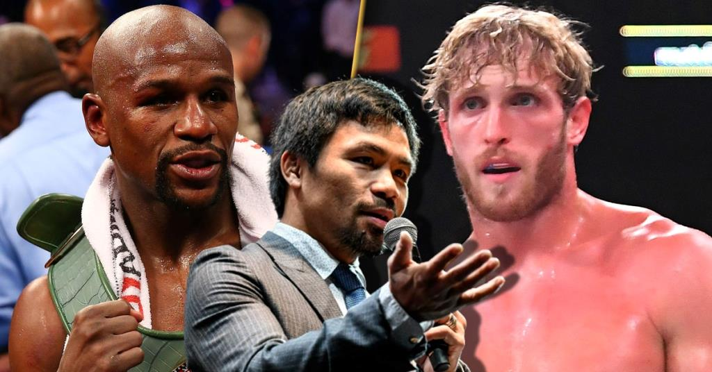 Manny Pacquiao gives his damning reaction Floyd Mayweather vs Logan Paul