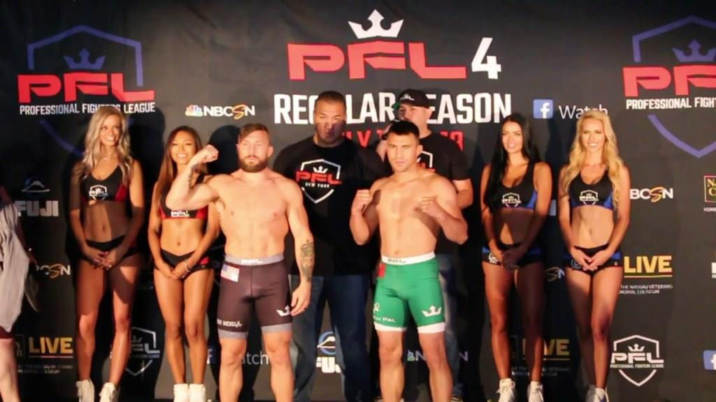 PFL 4 weigh-in resultsclash. Video