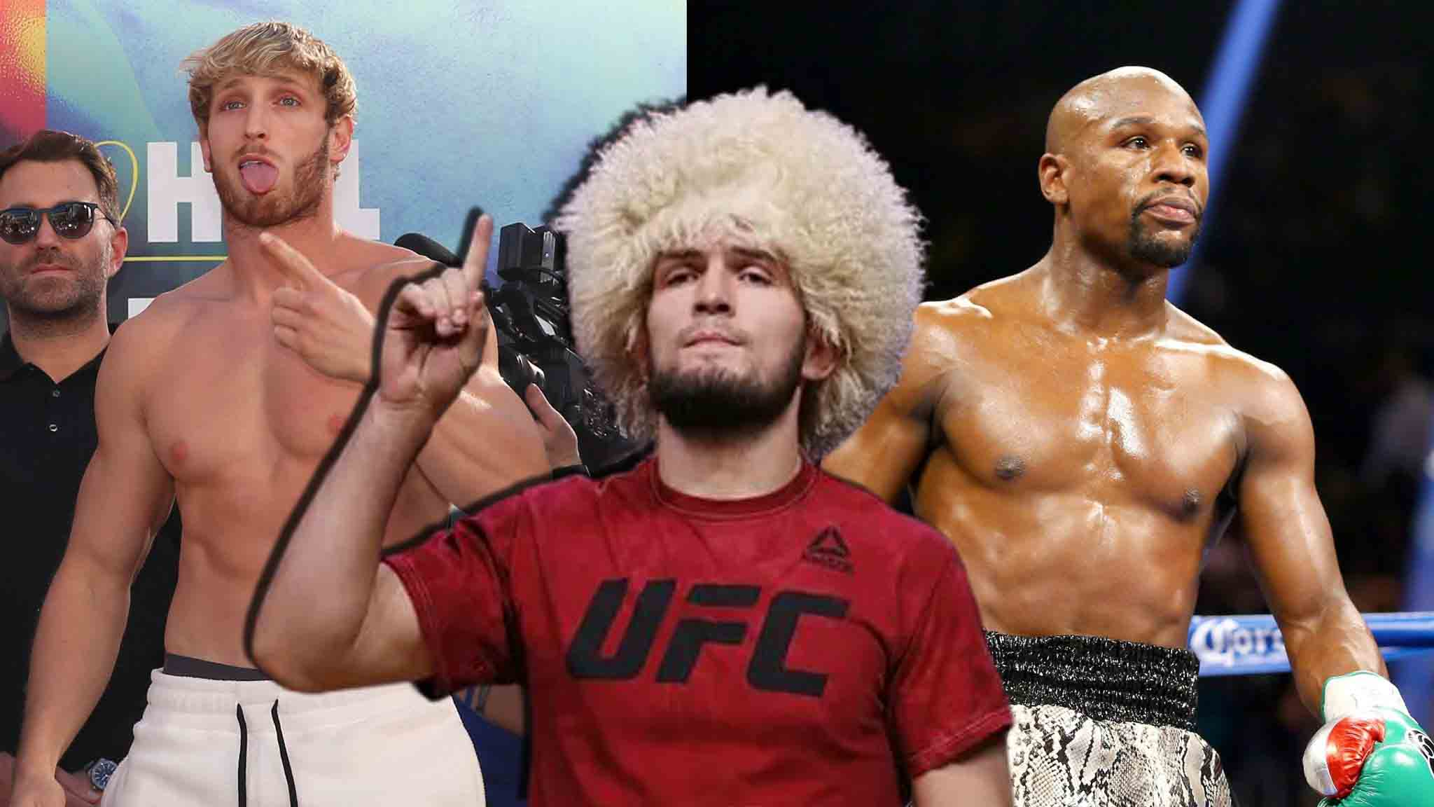 Khabib Nurmagomedov is ready to enter the ring if he is offered more than Floyd Mayweather and Logan Paul earned