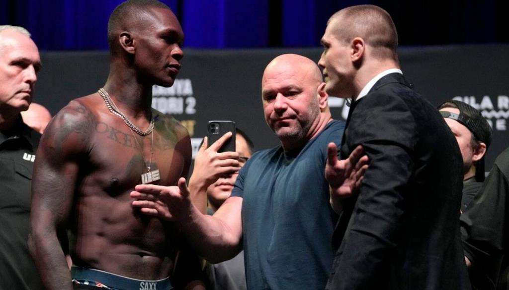 UFC 263 video Israel Adesanya-Marvin Vettori face to face, this puts Dana White in a tough spot.