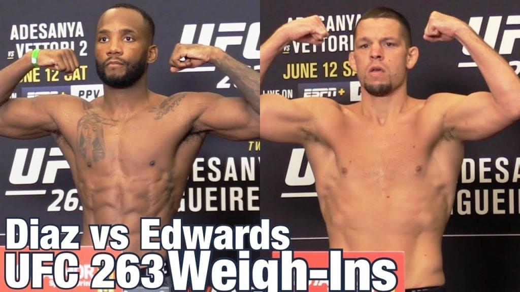 UFC 263 weigh-in results
