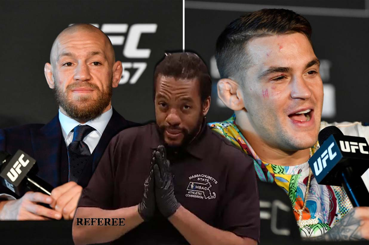 Herb Dean chief referee UFC 264 main event between Dustin Poirier and Conor McGregor