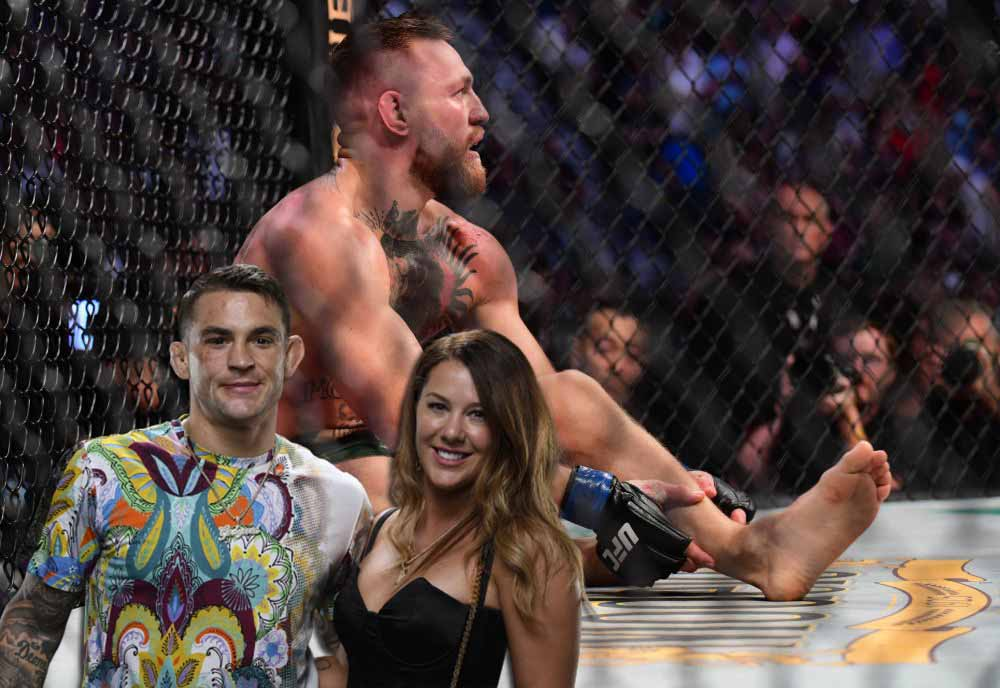 Dustin Porrier ridiculed McGregor's attempt to prove with the help of photos that he injured his leg before their fight