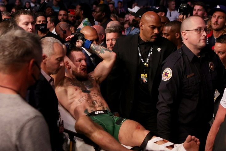 Conor McGregor is medically suspended until 2022 after breaking his leg at UFC 264 in a fight with Dustin Poirier