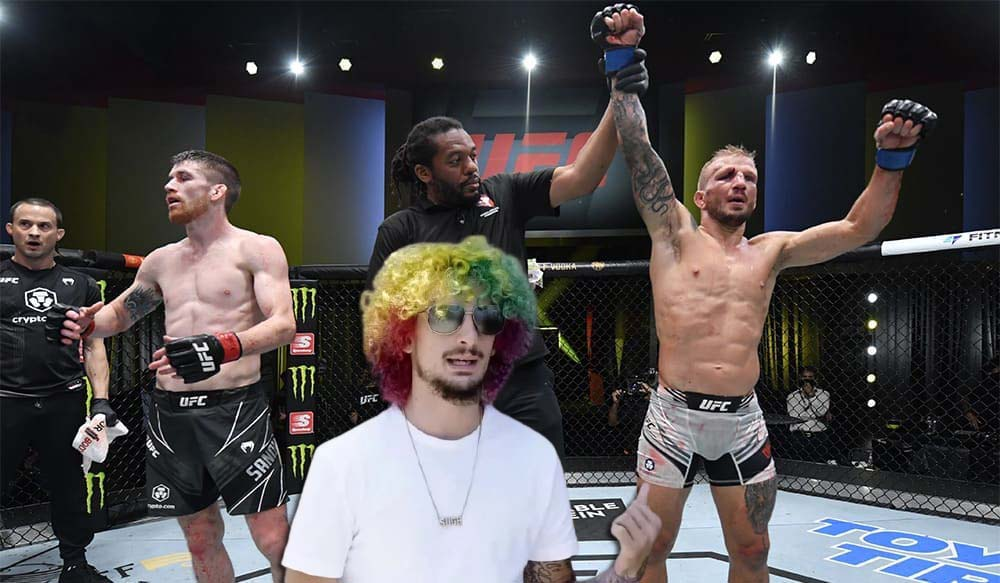 UFC news Sean O'Malley praised TJ Dillashaw for his fight with Cory Sandhagen at UFC on ESPN 27