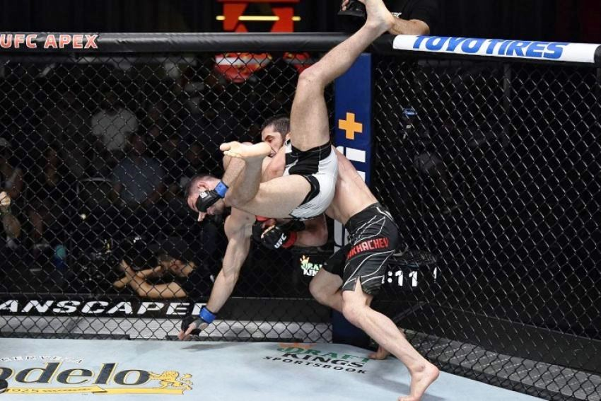 UFC Vegas 31 Results Islam Makhachev vs Thiago Moises (Video)