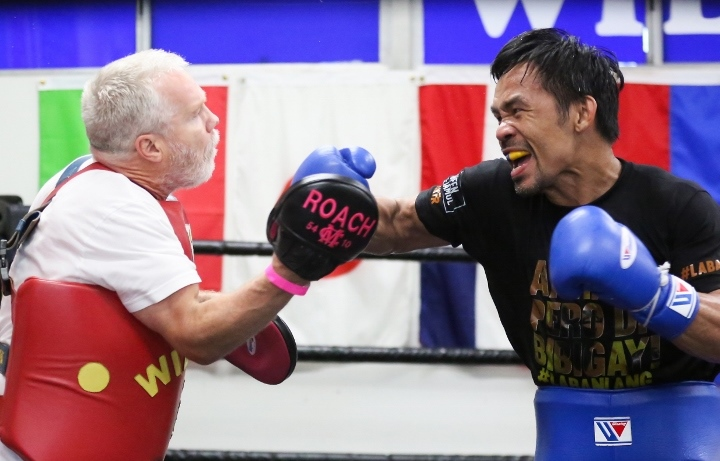 Boxing news Photos - Manny Pacquiao showed his current form before the fight with Yordenis Ugas