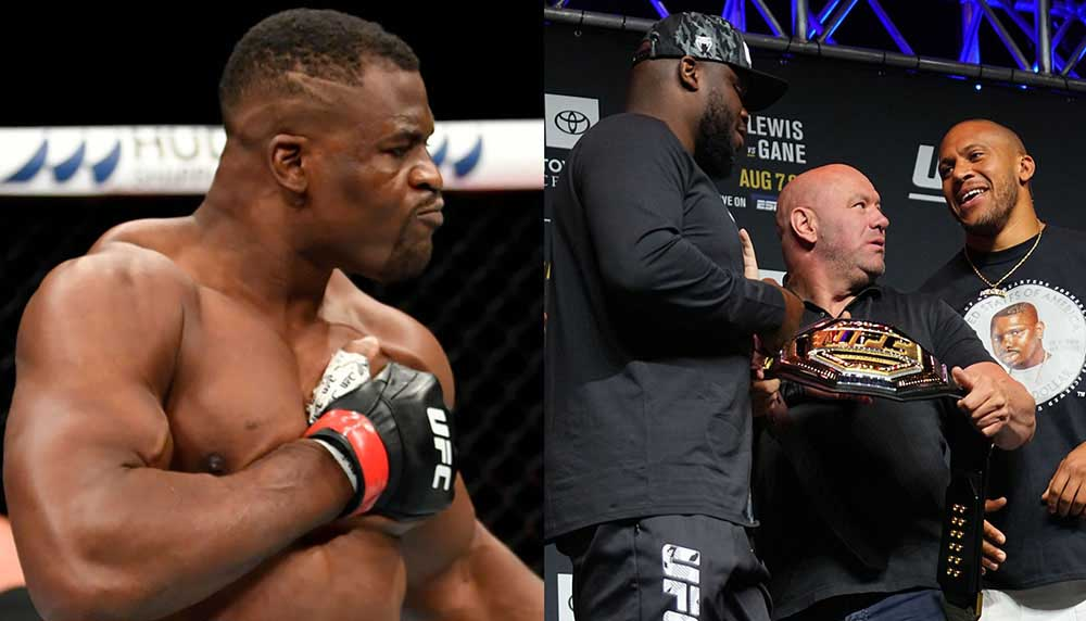 UFC news Francis Ngannou responded to the UFC president about the interim title