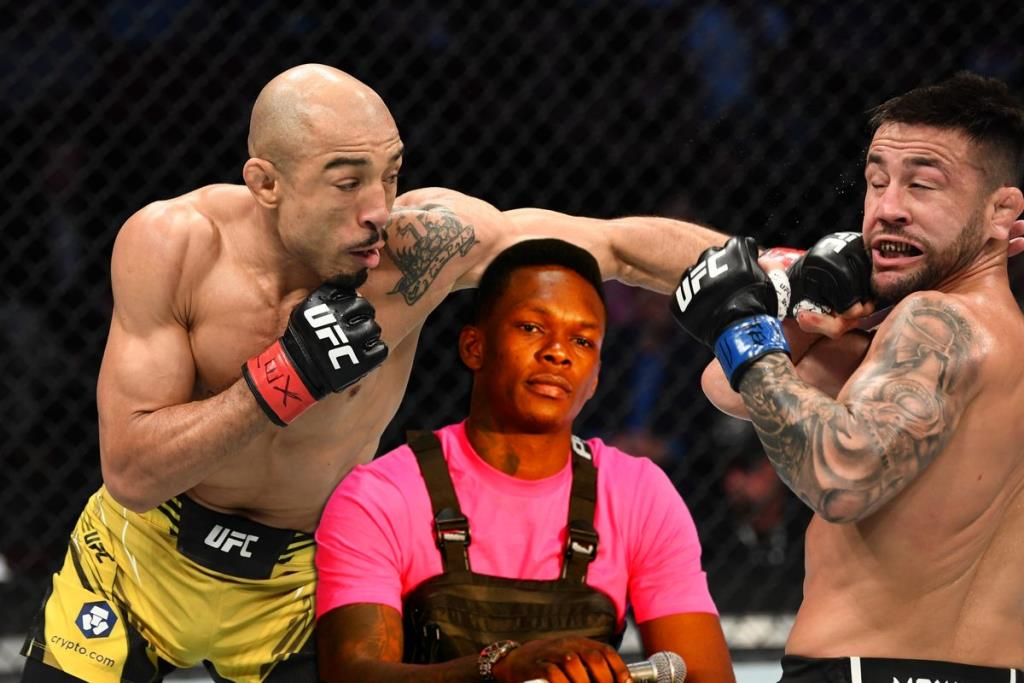 UFC news Israel Adesanya considers Jose Aldo one of the contenders for the status of the greatest fighter of all time.