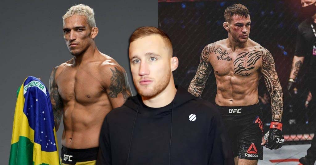 UFC news Justin Gaethje gave a forecast for a lightweight title fight between Dustin Poirier and Charles Oliveira