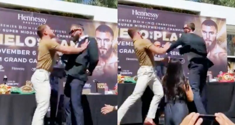 Boxing news Video-Saul Alvarez and Caleb Plant fought during a sterdown